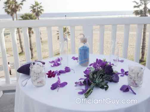 Sand Ceremony Unity for Southern California Beach Weddings