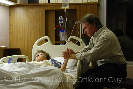 hospital bedside ceremonies, wedding officiant