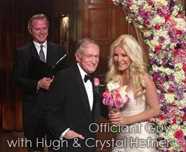 wedding officiant Los Angeles Playboy mansion