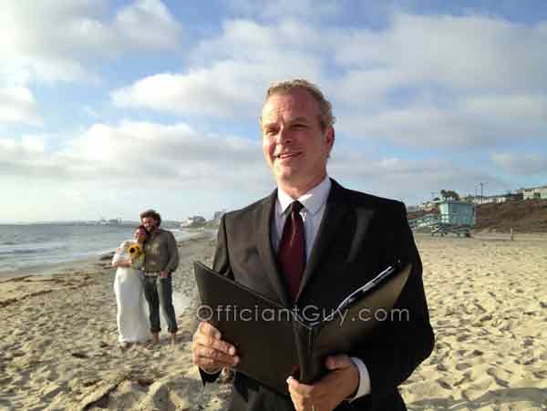 wedding officiant los angeles beach weddings