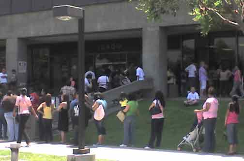 LA county marriage clerks office line