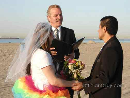 beach weddings los angeles casual