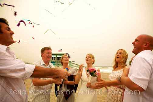 beach weddings in Southern California, Los Angeles