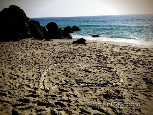 Valentine's Day Wedding - Officiant in Malibu