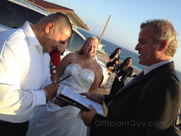 Los Angeles Wedding Officiant For La County Marriage License California