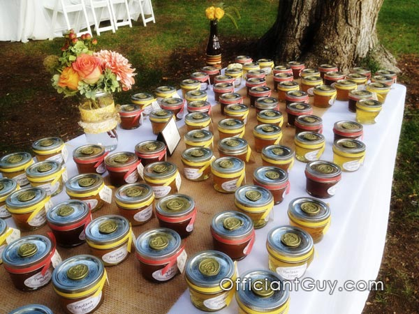 Wedding Favors taken by a Los Angeles Wedding Officiant