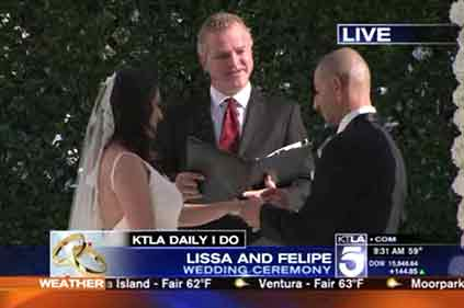 Wedding Officiant on Channel 5 in Los Angeles, KTLA's Week of Weddings Daily I Do