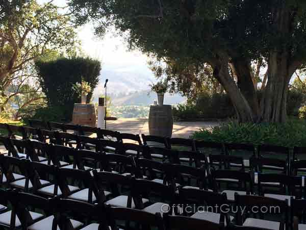 One of the best officiants for weddings, Chris officiates at LA venues like this
