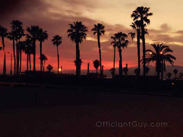 sunset beach weddings la county marriage