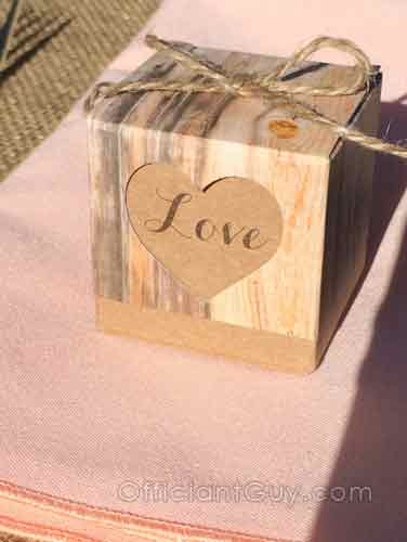 Sometimes at a wedding ceremony there are wonderful detail like this Love box.