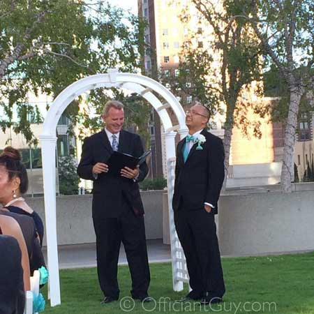 professional wedding officiant