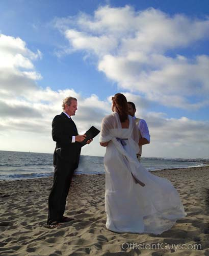 a beach wedding in Los Angeles California