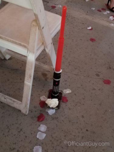 jedi light saber ceremony accessory aisle