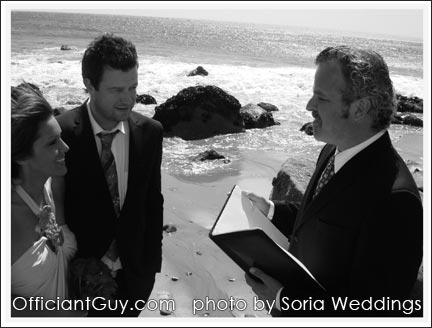 Officiant Guy, a wedding officiant in Los Angeles, is an elopements specialist who helps couples with an Southern California marriage and issues CA marriage licenses as well