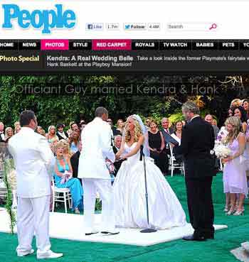 Kendra Wilkinson and Hank Baskett wedding officiant Los Angeles, Chris Robinson aslo known as Officiant Guy who helps couples with an LA County marriage and issues marriage licenses as well. He is a wedding minister for Los Angeles weddings. So if you need a wedding officiant
