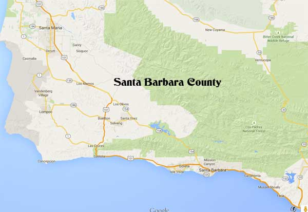 Santa Barbara County wedding ceremony in California