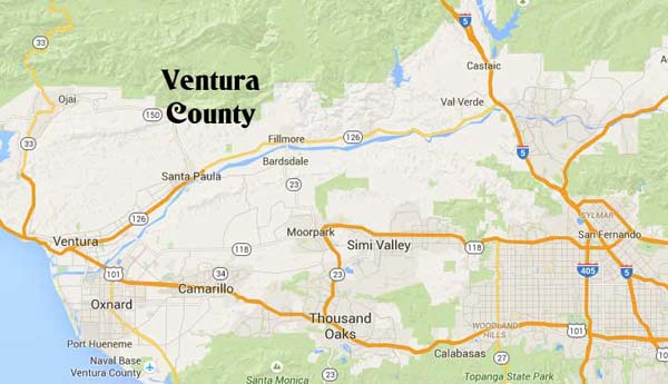 Ventura County California map