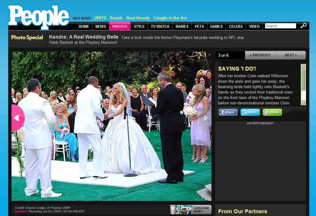 officiant guy marries kendra wilkinson and hank baskett