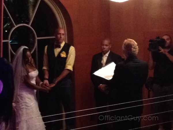 Officiant Guy was on TV again performing the vow renewal of Doug and Jackie Christie on Basketball Wives.