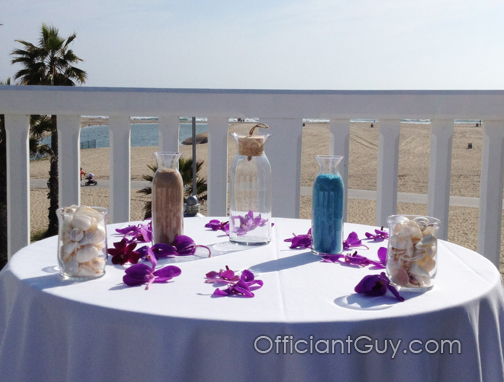 One of the top sand wedding ceremony beach officiants, Officiant Guy can give you great advice for a beach sand ceremony.