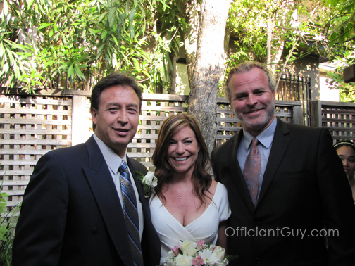Officiant Guy, a wedding officiant in Los Angeles, helps couples with an Southern California backyard wedding