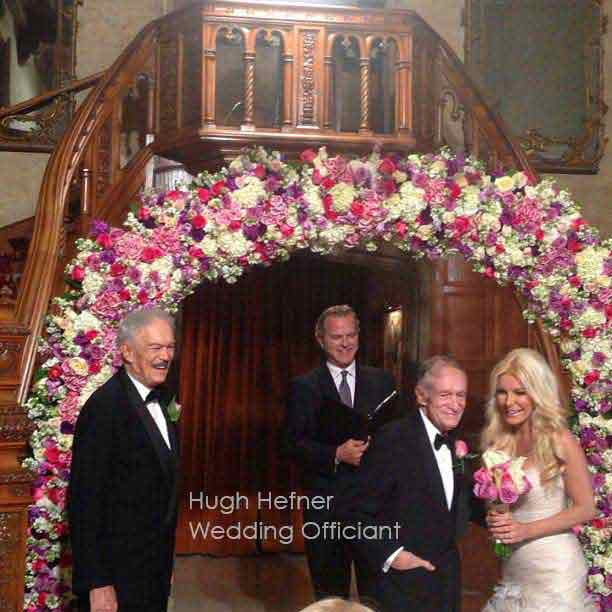 Hugh Hefner Playboy Mansion Wedding Officiant Los Angeles