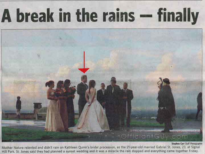 wedding officiant long beach press telegram