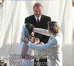 Officiant Guy, a celebrity wedding officiant in Los Angeles, married Milla Jovovich