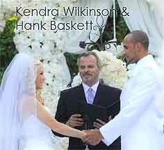 Officiant Guy, a celebrity wedding officiant in Los Angeles, officiated the wedding for Kendra Wilkinson and Hank Baskett