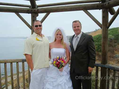 Officiant Guy performs many outdoor weddings in the Los Angeles area including Orange County.