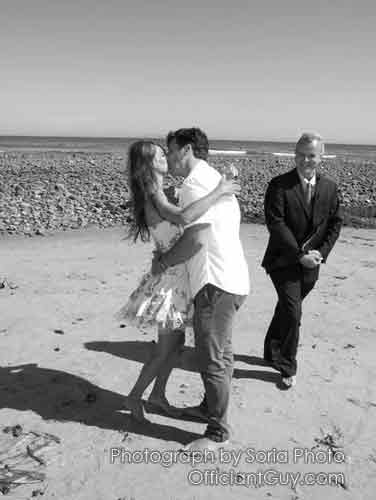 Officiant Guy just married a couple in a simple wedding