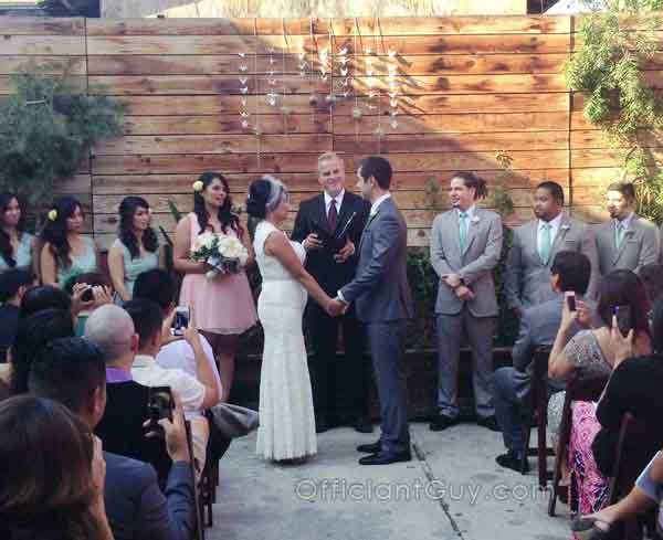 traditional wedding vows spoken by Los Angeles officiants