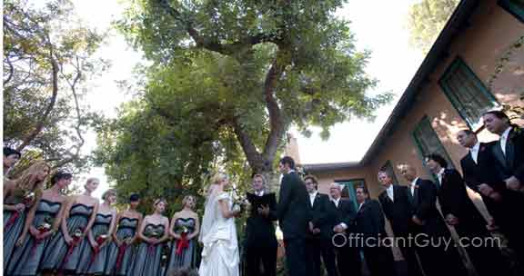 wedding officiant marrying a couple for a big wedding